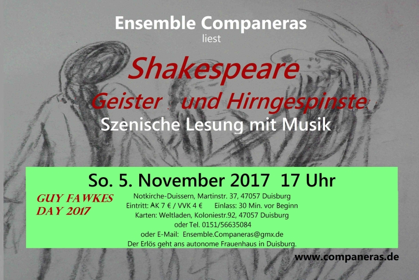 Flyer Lesung Shakespeare